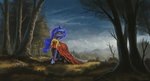 dress forest highres princess_luna scenery shamanguli