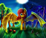 absurdres apples aquagalaxy bat flutterbat fluttershy highres