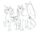 flag lineart longinius-ii princess_cadance shining_armor