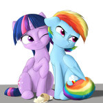 absurdres captainpudgemuffin highres ice_cream princess_twilight rainbow_dash tears twilight_sparkle