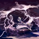 cloud flying highres lightning original_character weird--fish
