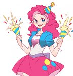 equestria_girls hat highres humanized mazelord party_hat party_popper pinkie_pie