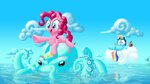 cephalopod cloud glasses highres ice_cream mick-o-maikeru octopus pinkie_pie rainbow_dash sunglasses