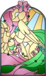 absurdres fluttershy highres scarlet-spectrum stained_glass