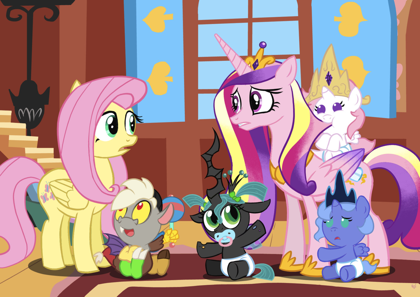 Baby Discord And Fluttershy Before commenting  read the
