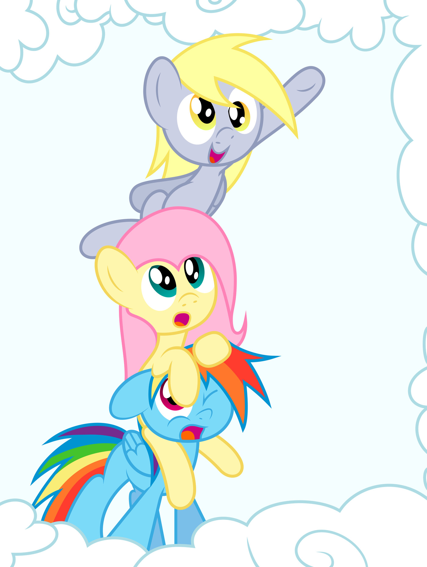 derpy hooves, fluttershy, and rainbow dash drawn by ...  Filly Rainbow Dash And Derpy
