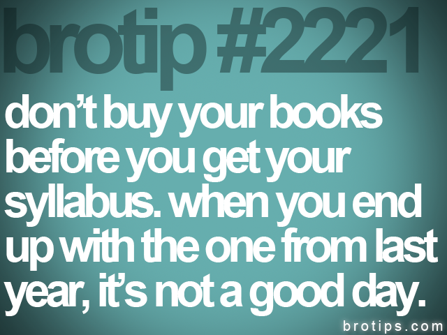 brotip #2221 don't buy your books<br>