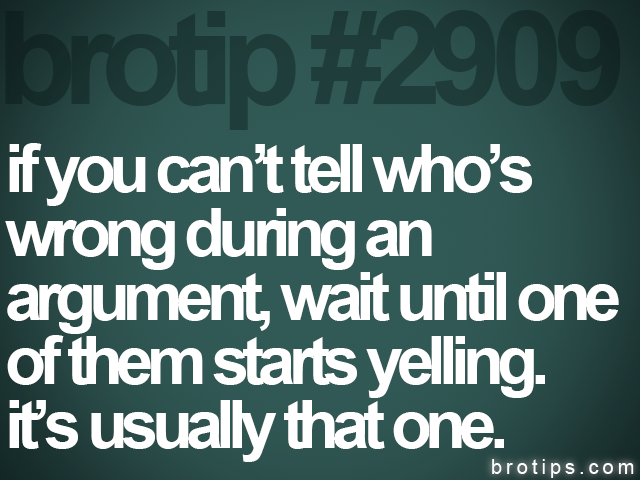 brotip #2909 if you can't tell who's<br>