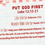 Week of July 24—Put God First—Social Media Plan