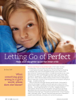 Beauty From Ashes – Session 3 – Letting Go of Perfect