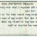 Week of April 2 – Jesus Performed Miracles –Social Media