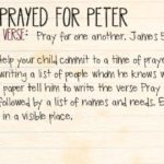 Week of July 2—People Prayed for Peter—Social Media Plan