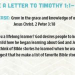 Week of August 20—Paul Wrote a Letter to Timothy—Social Media Plan