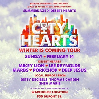 Win SummerDaze season passes and tickets to the City Hearts Tour: Winter Is Coming