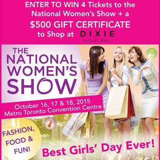 Win tickets to the National Women's Show and a $500 shopping Spree at Dixie Outlet Mall