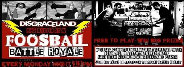 Foosball Battle Royale at Disgraceland