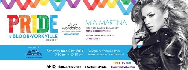 Pride of Bloor-Yorkville ft. Mia Martina