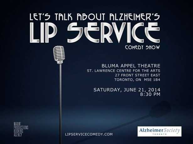 Lip Service Comedy Show in Support of the Alzheimer Society of Toronto