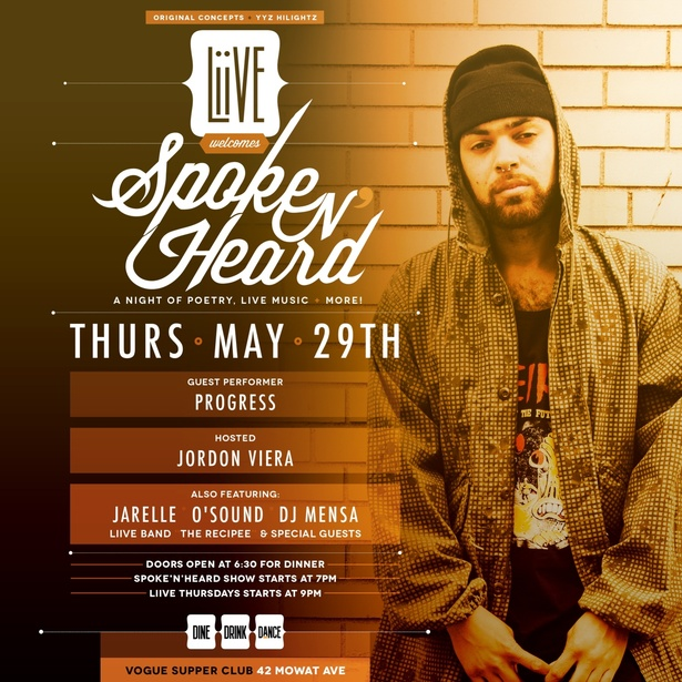 Liive Thursdays x Spoke N Heard - Live Music - Live Poetry - Live Djs - Food and More!