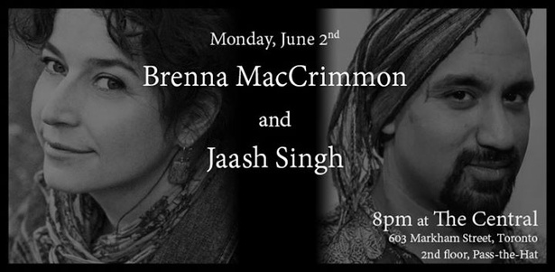 Brenna MacCrimmon and Jaash Singh at the Central