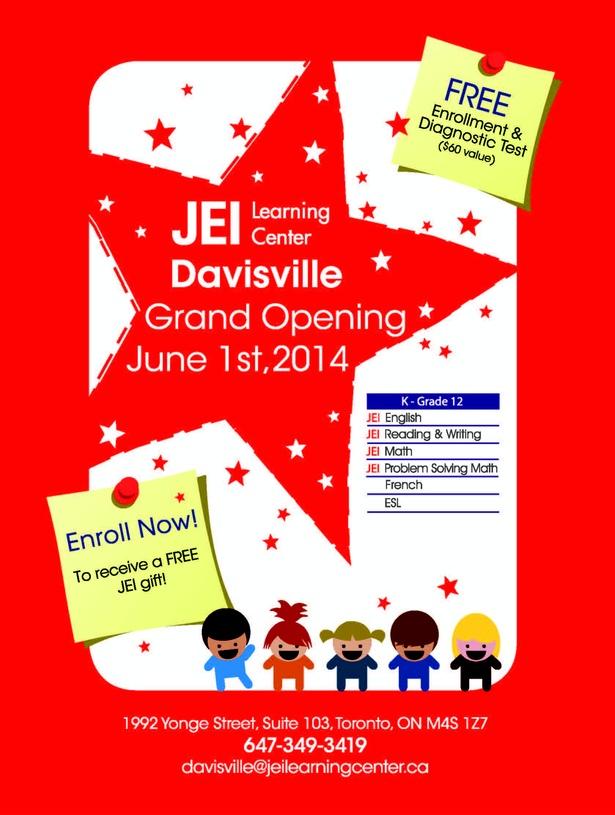 JEI Learning Center Davisville-Grand Opening