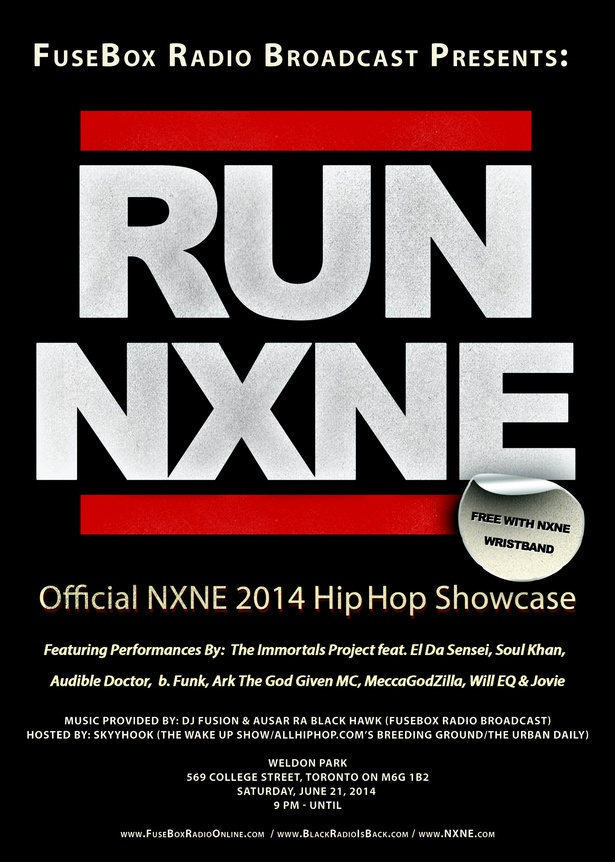 """FuseBox Radio Broadcast Presents"" Official North by Northeast 2014 Hip-Hop Music Showcase"
