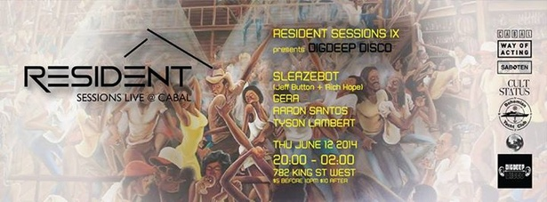 Resident Sessions IX presents DigDeep Disco @ Cabal