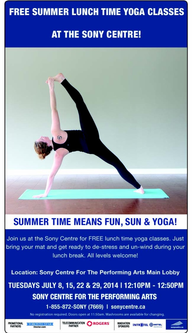 Summer Lunch Time Yoga Classes