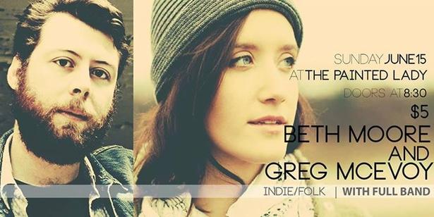 BETH MOORE & GREG MCEVOY @ THE PAINTED LADY  JUNE 15E