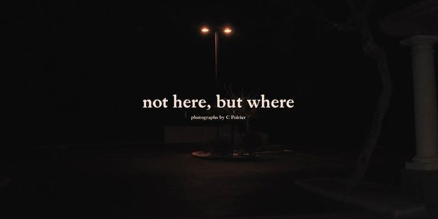 """not here, but where"""