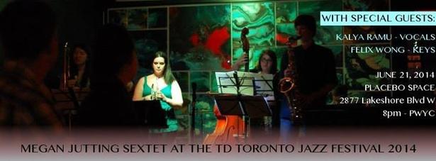 Megan Jutting Sextet at TD Toronto Jazz Festival