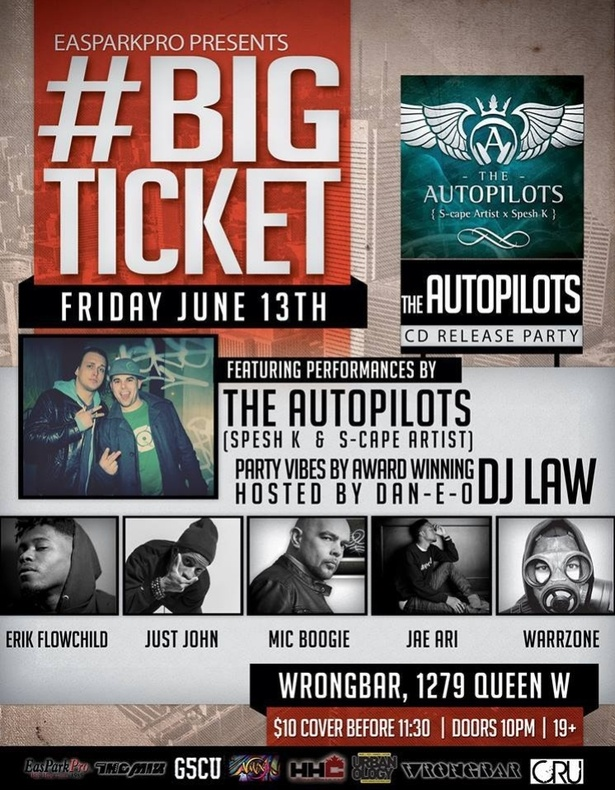 #BIGTICKET - Know My Name Edition Ft. The AutoPilots, Erik FlowChild, Just John, Mic Boogie, Jae Ari, WarrZone, DJ Law