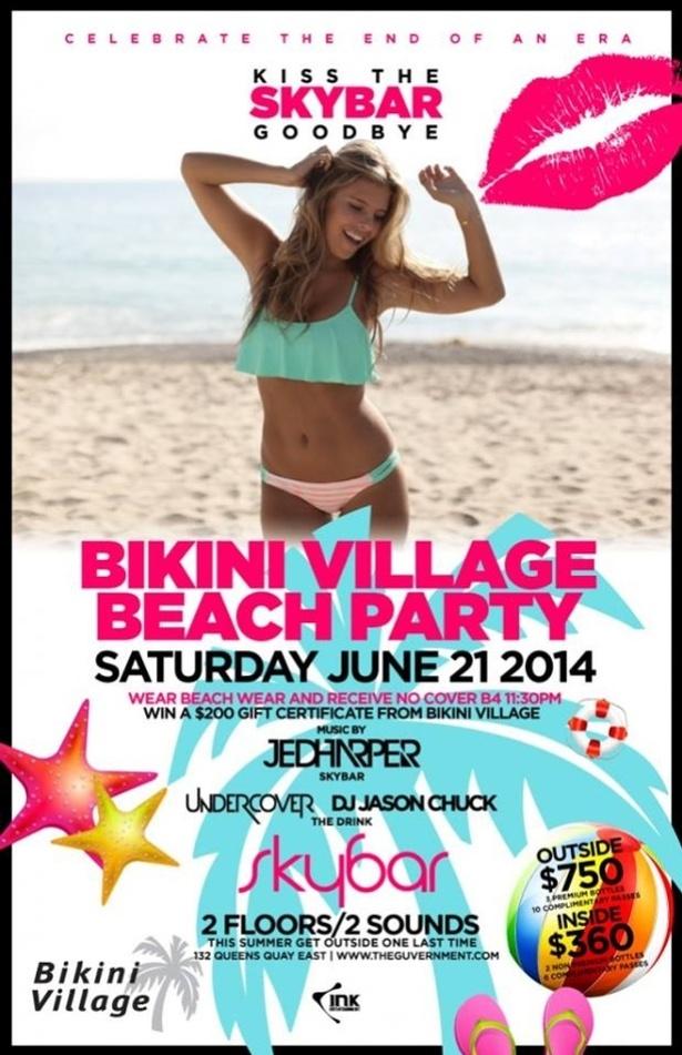 BEACH PARTY AT SKYBAR SATURDAYS!
