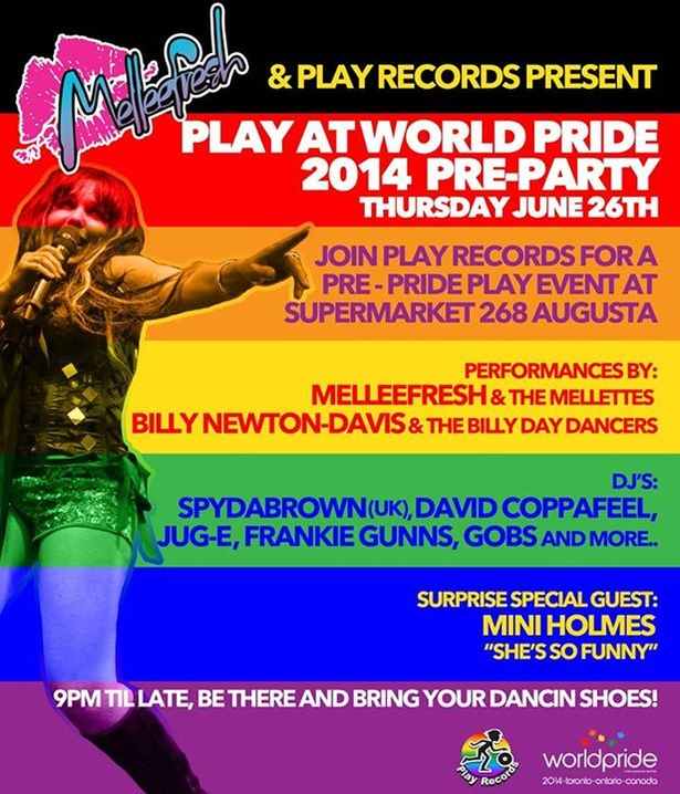 Melleefresh & Playrecords Pre WorldPride Party!!!