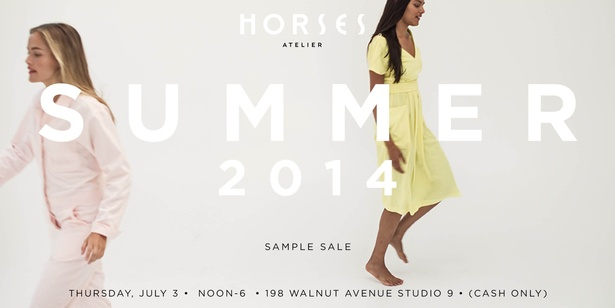 Horses Atelier SS14 Sample Sale