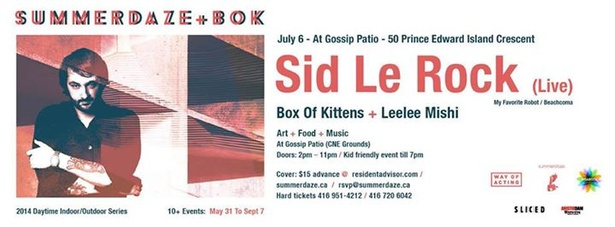 SUMMERDAZE & BOX OF KITTENS PRESENT...SID LEROCK LIVE