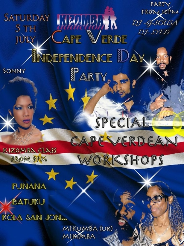 Cape Verde Independence Day - Saturday 5th July - Clube Vicio