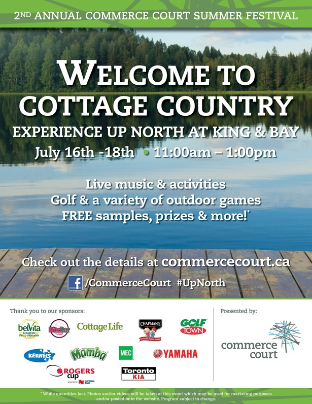 Welcome to Cottage Country at Commerce Court