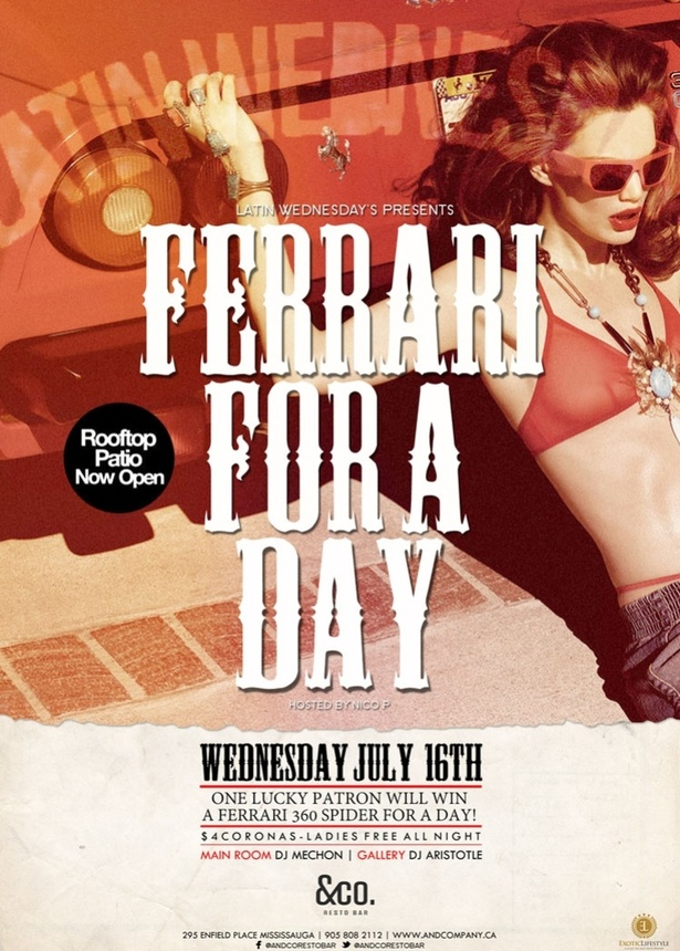 FERRARI FOR A DAY - &CO LATIN WEDNESDAYS
