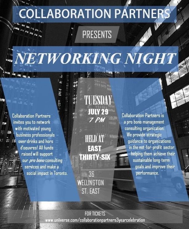 Networking: Come celebrate Collaboration Partners 3-Year Anniversary in Toronto