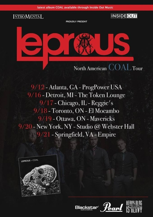 LEPROUS with Ayahuasca, Muffler Crunch & Liminal Divide   SEPT 18th @ The Elmocambo