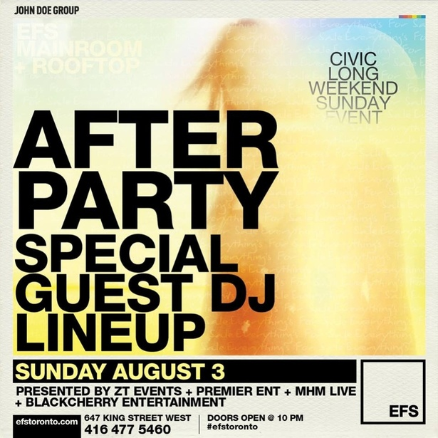 AFTER PARTY AT EFS WITH SPECIAL GUESTS