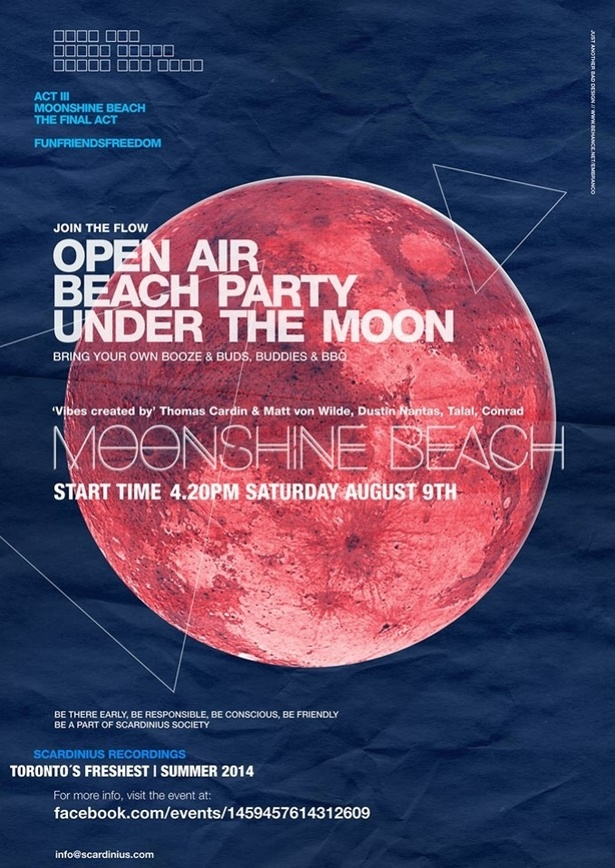 Moonshine Beach - Act III - The Last Jam - August 9th 2014 - Full Moon Open Air Secret Beach Party