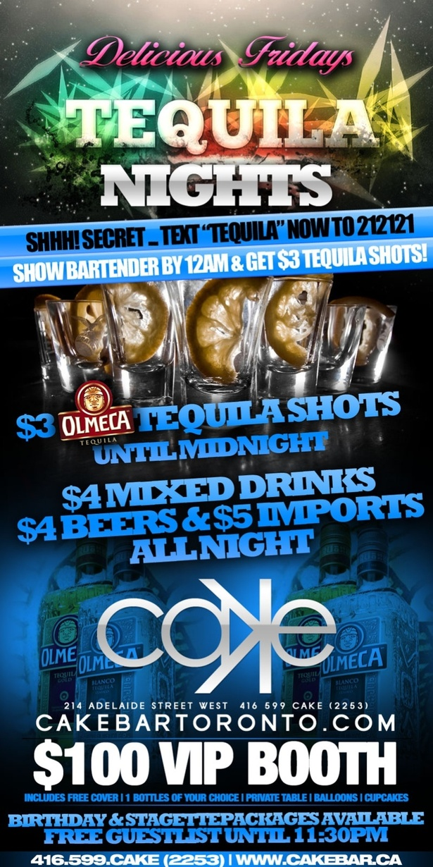 $4 Drinks @ Cake Nightclub