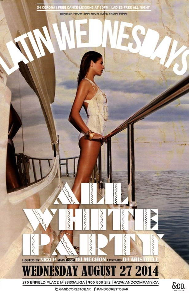 ALL WHITE PARTY - &CO LATIN WEDNESDAYS