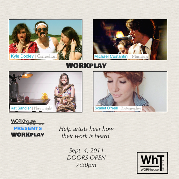 WORKplay: Art. Music. Drinks. ARTISTIC FEEDBACK. @ the Gladstone Hotel Ballroom