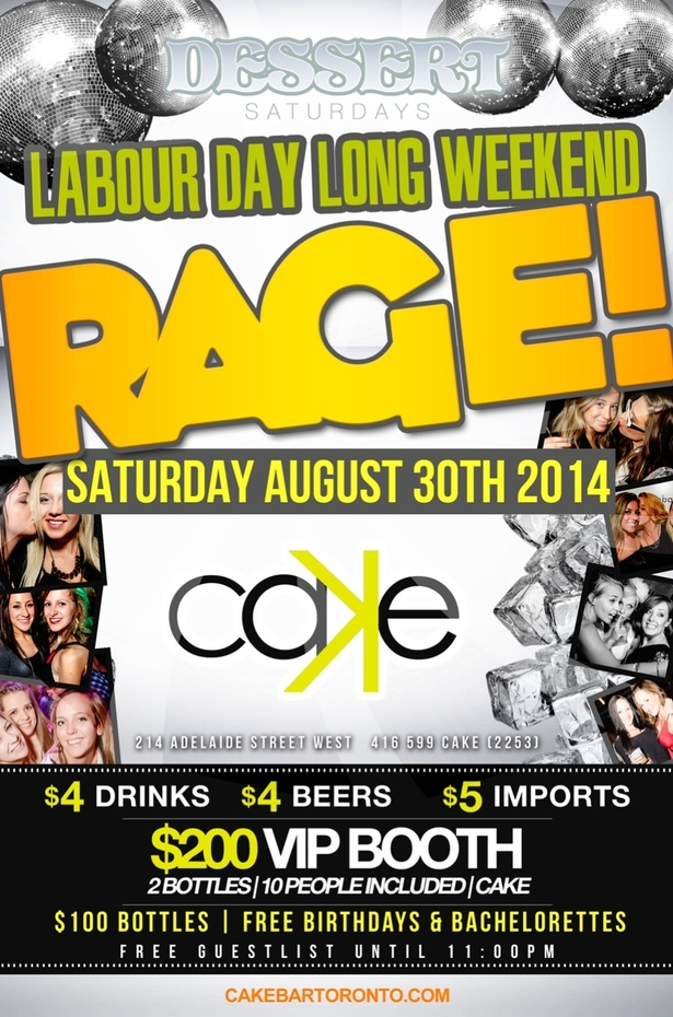 Cake Nightclub Long Weekend Saturday Rage