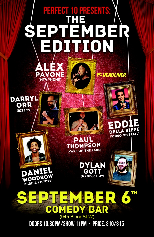 Perfect 10 Comedy Presents: The September Edition