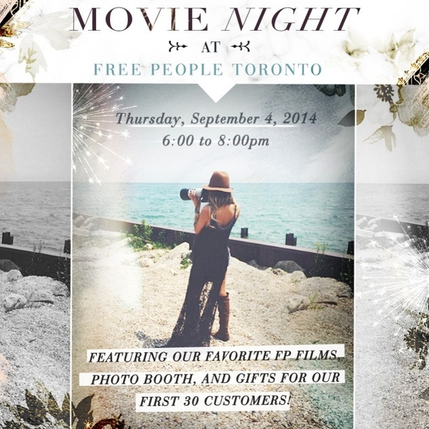 Movie Night at Free People Toronto