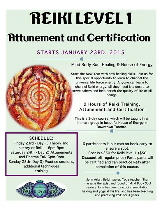 Reiki Level 1 Certification Attunement And Training